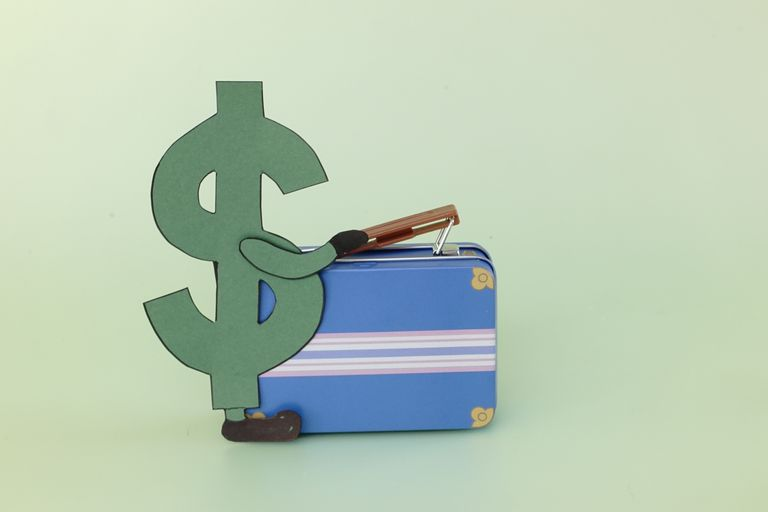 Illustration of dollar sign with suitcase - time to move.