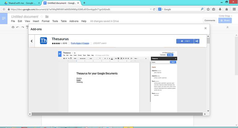 Thesaurus Google Docs Free Google Docs...