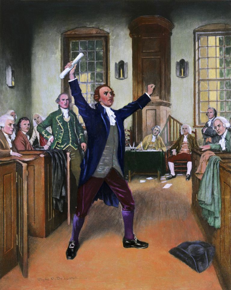 Patrick Henry addressing the Constitutional Convention