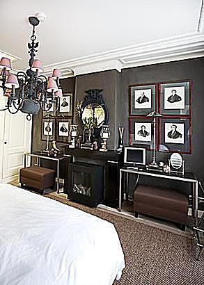 Eclectic bedroom interior