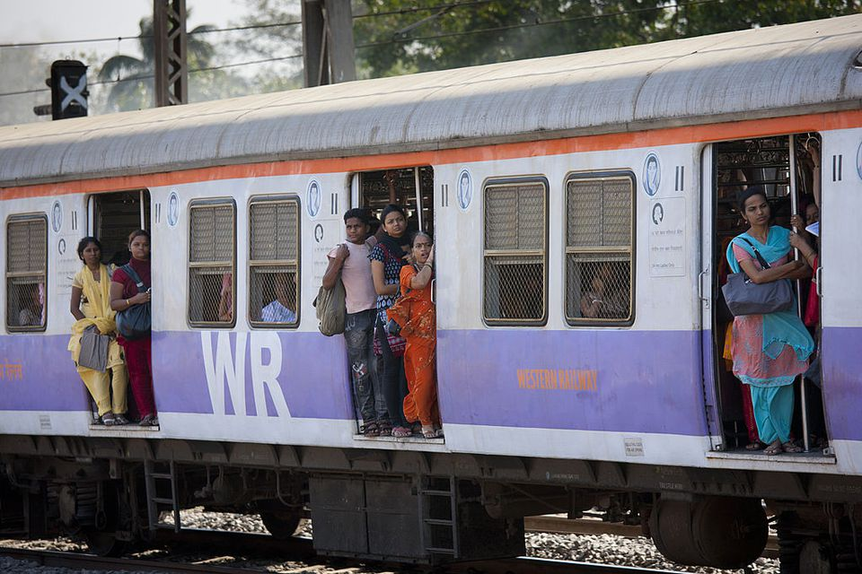 Mumbai local train.