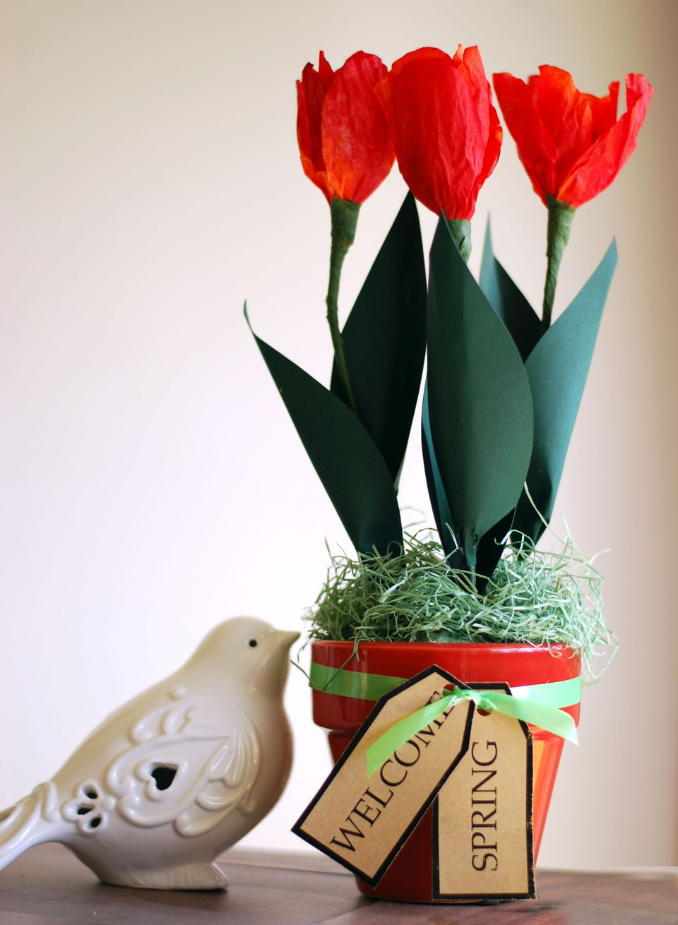 How to make a paper tulip spring floral arrangement dhlflorist Image collections