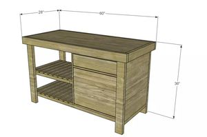 A Diagram For Kitchen Island