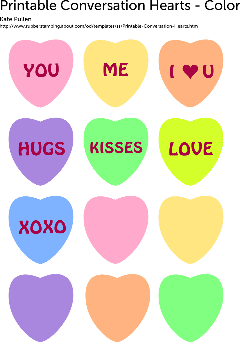 free printable conversation hearts for valentine u0026 39 s day