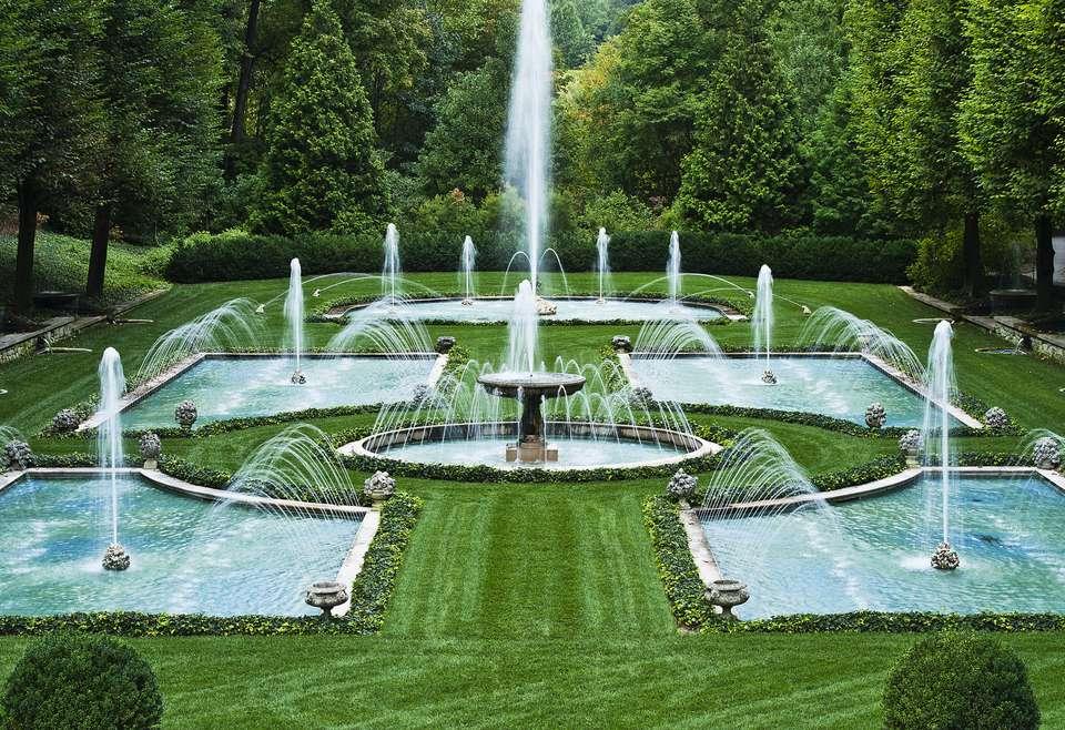 An Italian water garden in Longwood Gardens