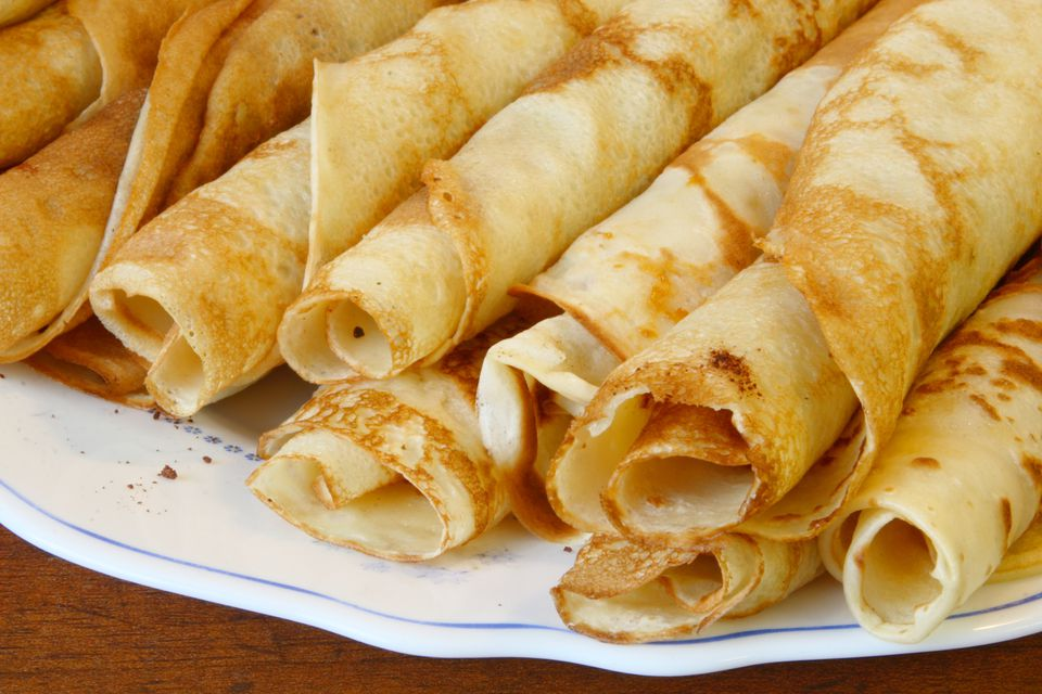 A plate of crepes