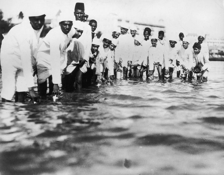 Just by filling these bottles with intent to make salt, Gandhi's supporters broke colonial law