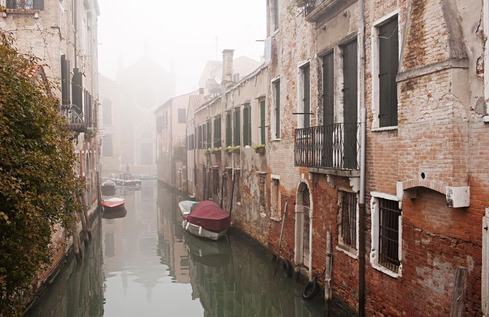 November mists in the quiet backwaters of Venice.