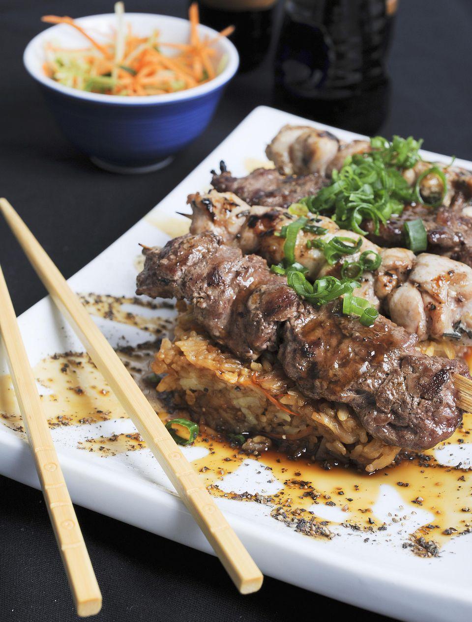 Hawaiian Beef Teriyaki Kebabs