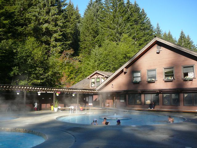 Soaking Pools at Sol Duc Hot Springs Resort