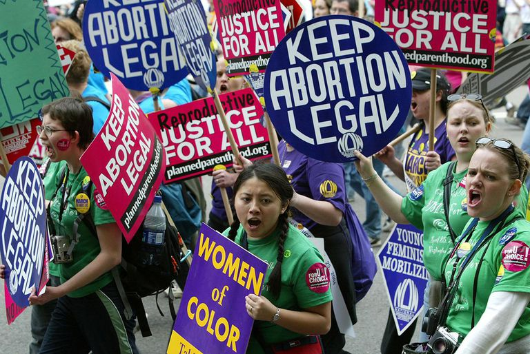 Thousands March For Abortion Rights
