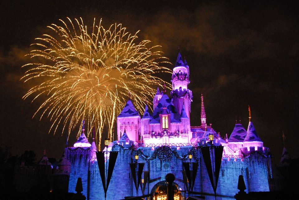 Disneyland Holiday Castle and Fireworks