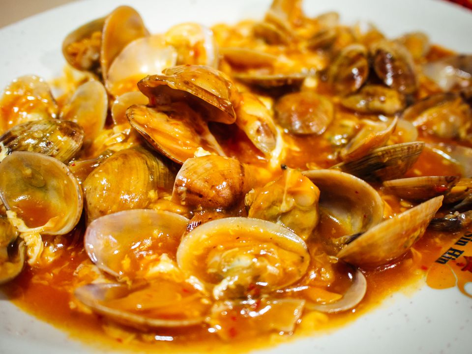 Close-Up Of Clams Served In Plate