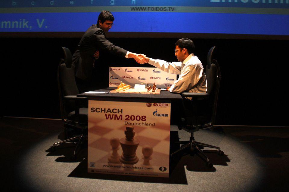 Handshake at Chess Match