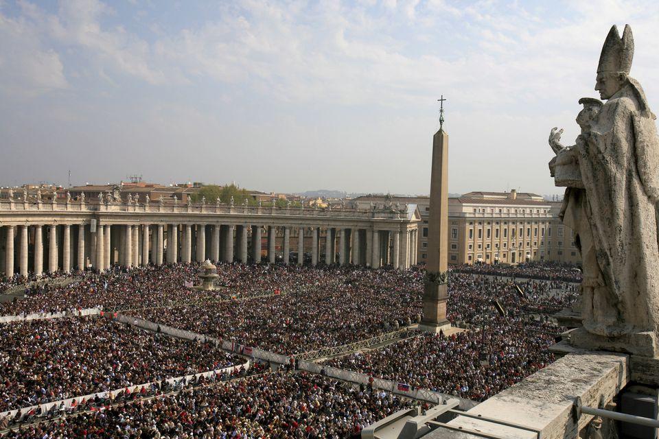 Easter Sunday mass at Saint Peter's