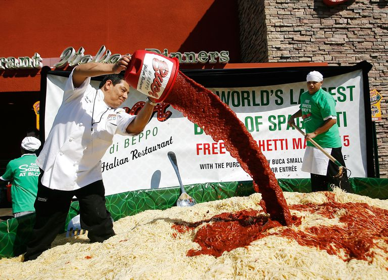 world's largest bowl of spaghetti