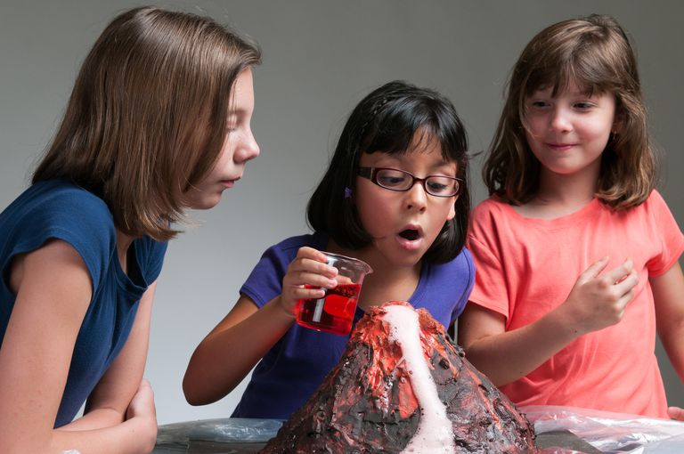 The regular baking soda and vinegar volcano is fun, but you can make the science project more exciting by changing the materials.