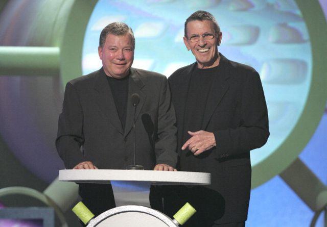 William Shatner and Leonard Nimoy at 2005 TV Land Awards