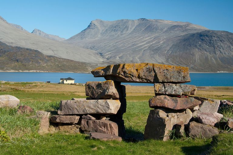 Ruins of Gardar, Village Igaliku, Igaliku Fjord, Greenland