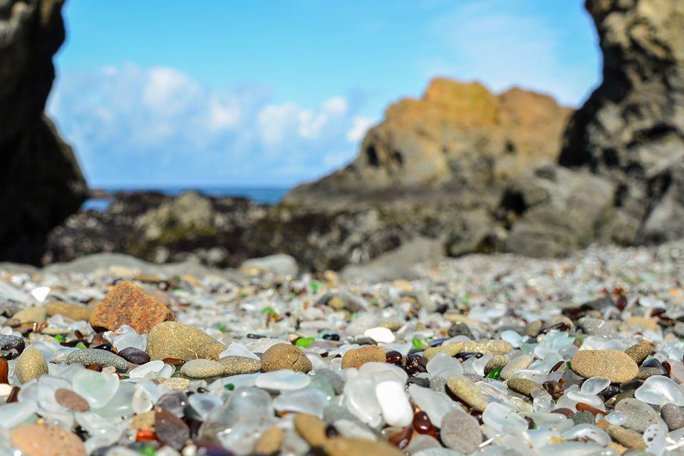 Glass Beach in Mendocino