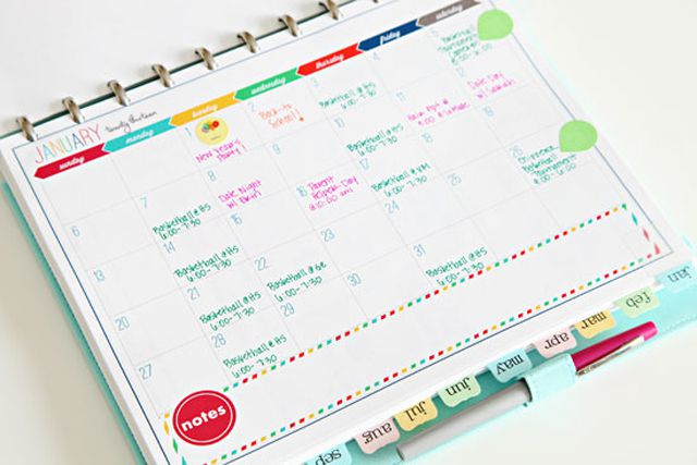 How to make a diy personal planner for Make a planner online