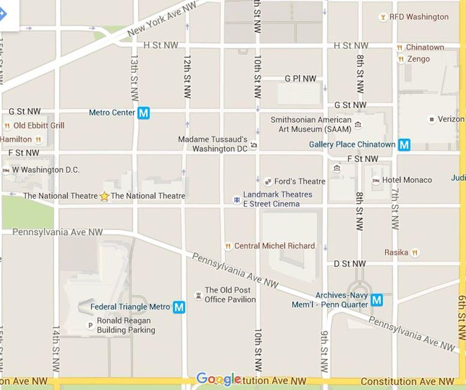 Penn Quarter Map Downtown Washington DC