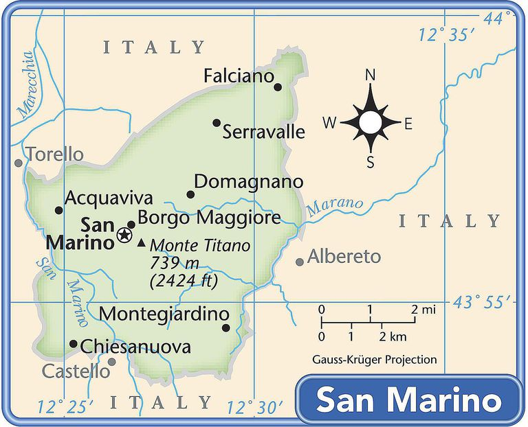 San Marino country map