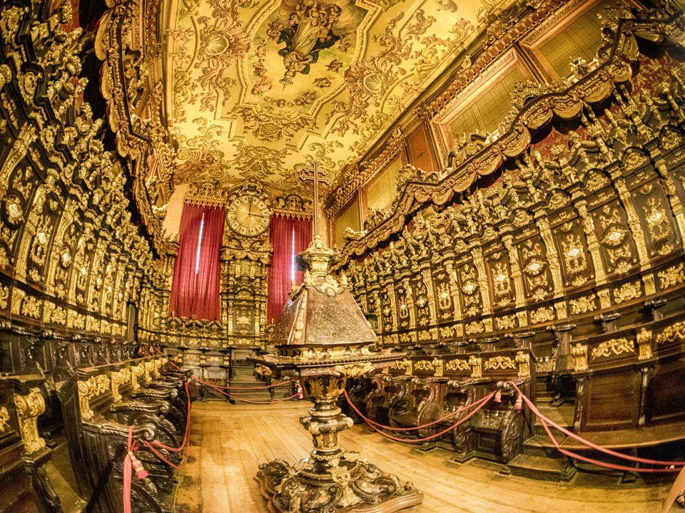 Colorful Braga Cathedral interior