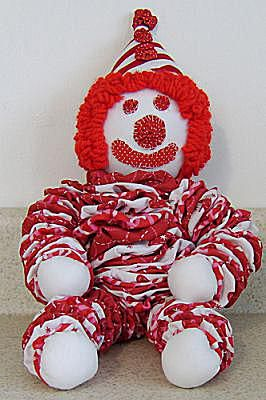 Free Directions to sew a Yo-Yo Clown