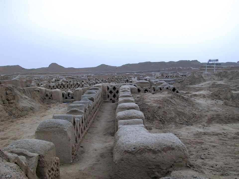 Chan Chan, the ancient capital of the Chimu people of Peru