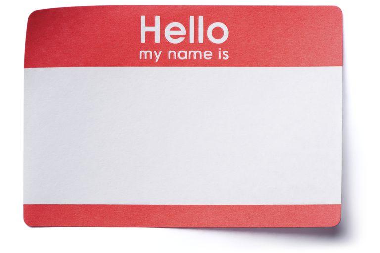 Hello Name Tag Sticker