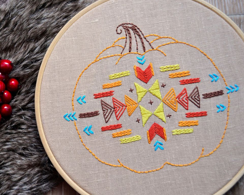 Hand embroidery patterns for autumn stitching