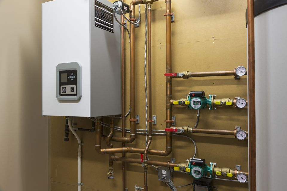 A hot water heating system