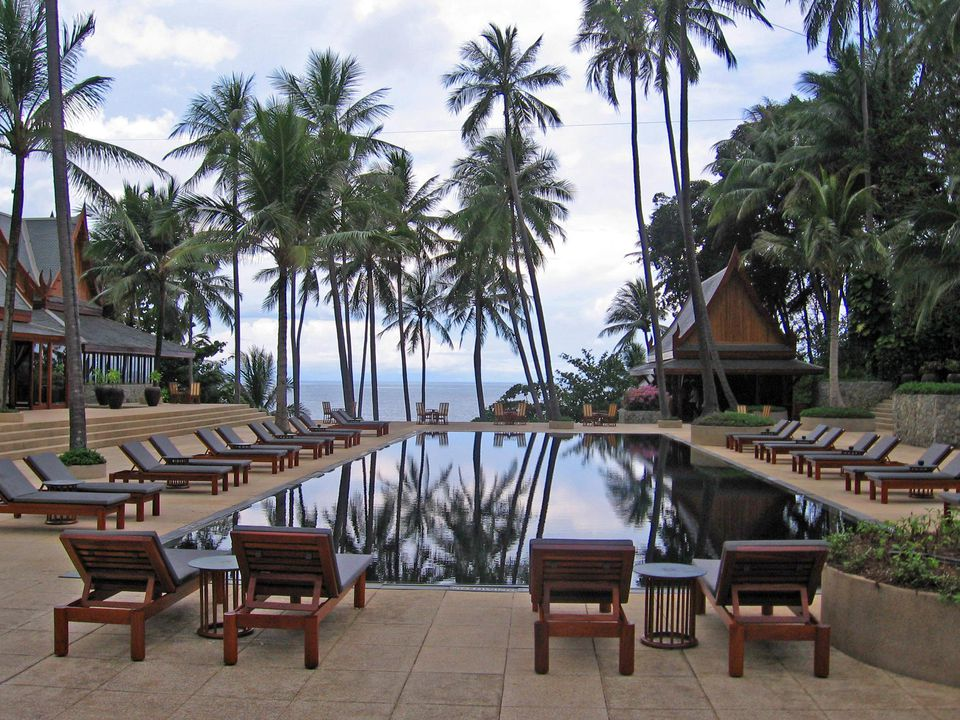 Amanpuri main pool This is the resort in Phuket Thailand
