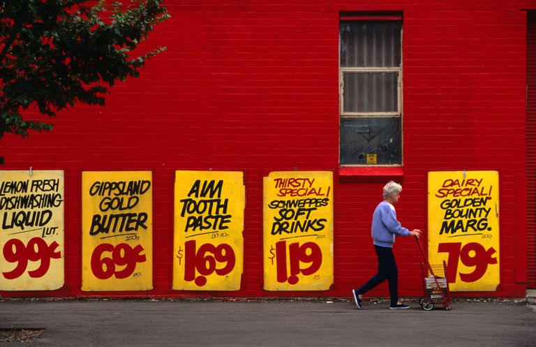 Supermarket savings opposite South Melbourne Market.