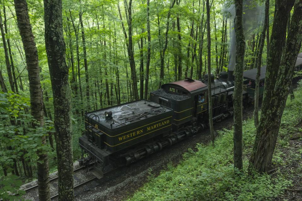 West Virginia, Cass, historic Cass Scenic Railroad
