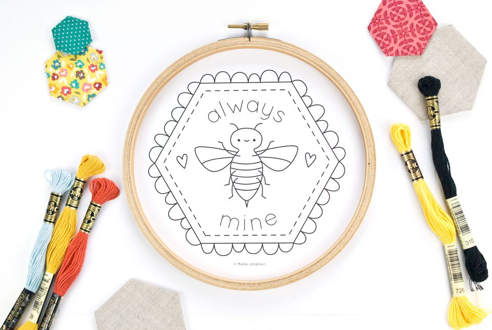 Always Bee Mine Hand Embroidery Pattern