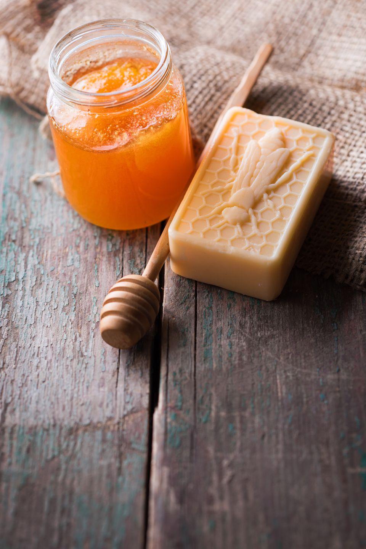 Homemade honey soap