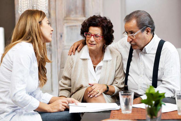 Senior couple doing inheritance planning.