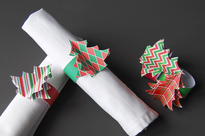 DIY Christmas Tree Napkin Rings