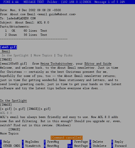 Pine - Free Email Program