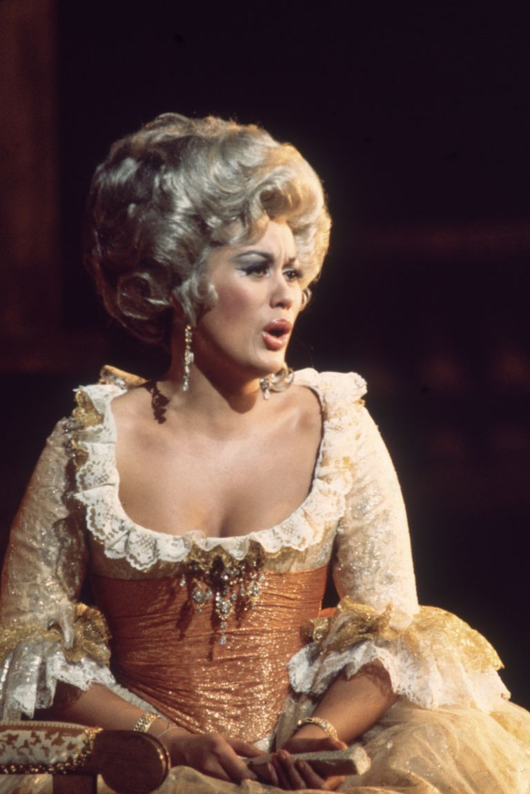 Dame Kiri Te Kanawa performs as the Countess in Mozart's opera 'Le Nozze di Figaro' at the Royal Opera House, Covent Garden, London.
