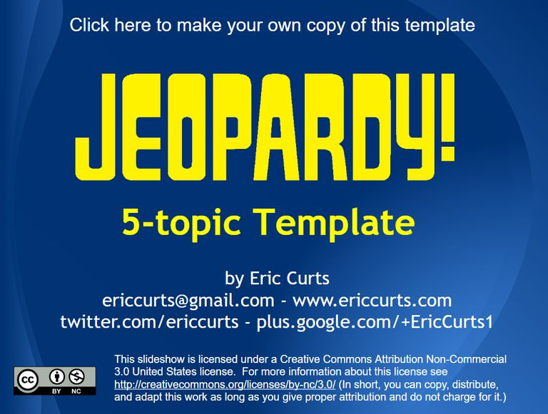 9 free jeopardy templates for the classroom, Presentation templates