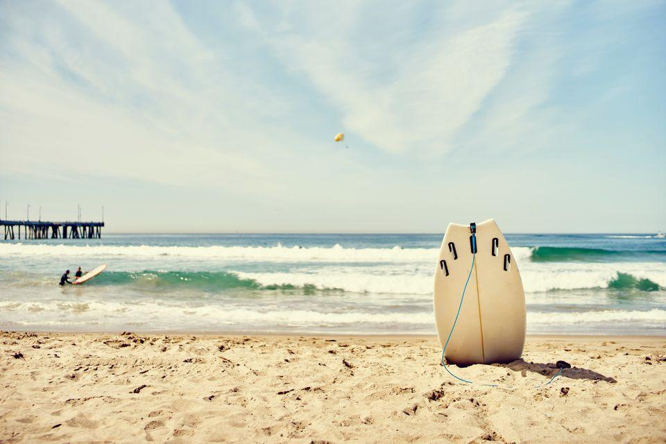 Surfboard on Venice Beach