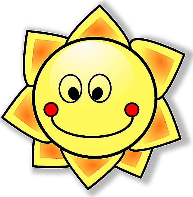 Screenshot of a smiling sun cartoon