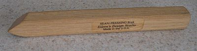 Photo of a Wooden Pressing Bar for Sewing and Quilting