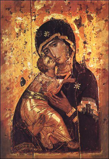 Icono de la Virgen de Vladimir