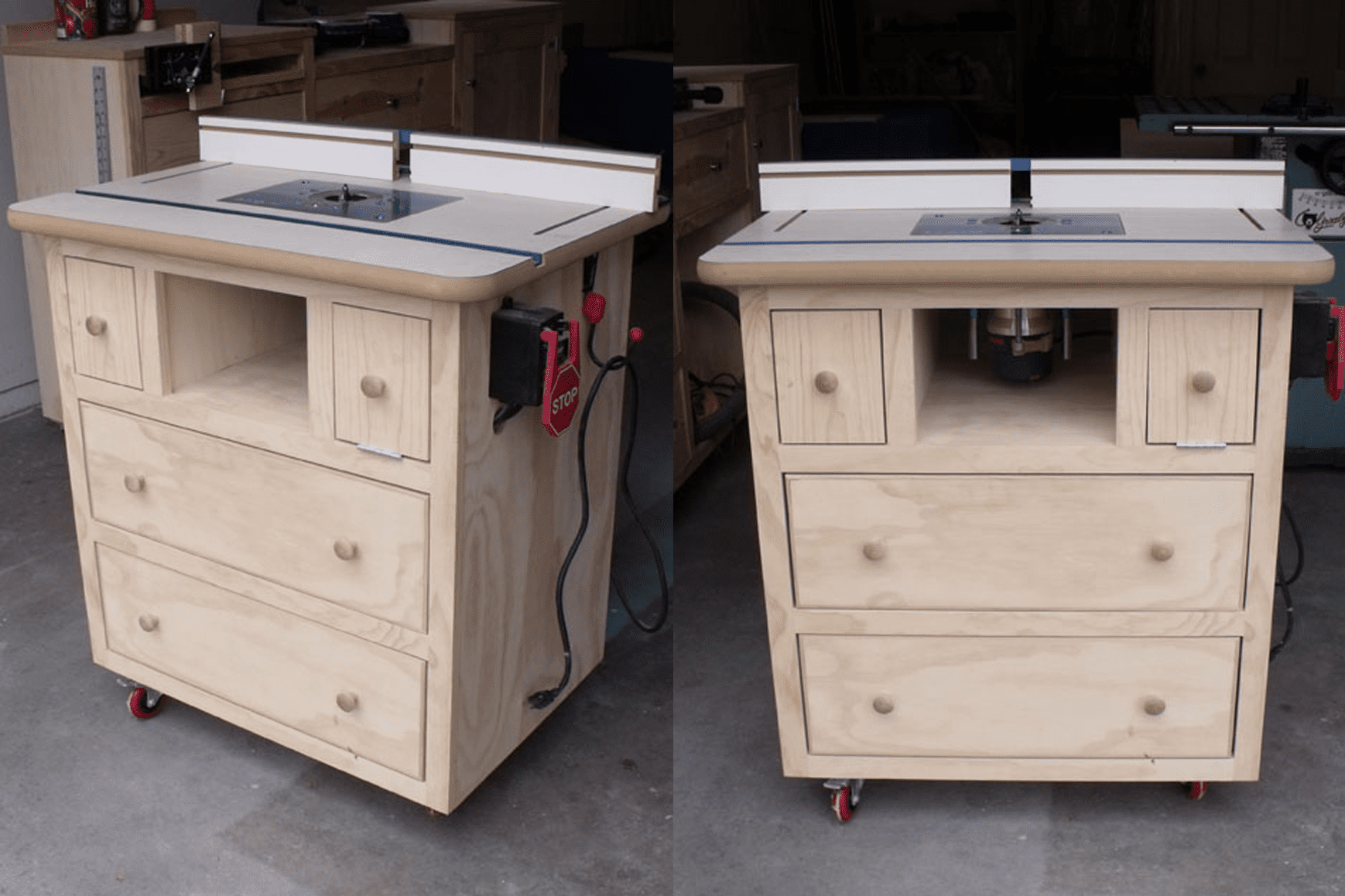 8 free diy router table plans you can use right now for Ana white router table