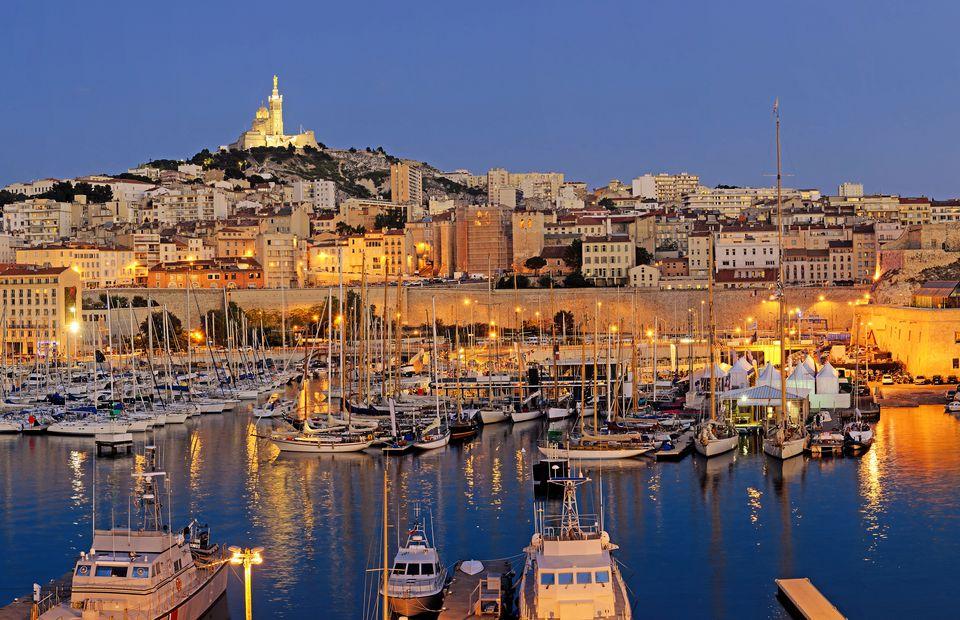 Marseille at night