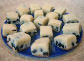 Blueberry Cheesecake Fudge